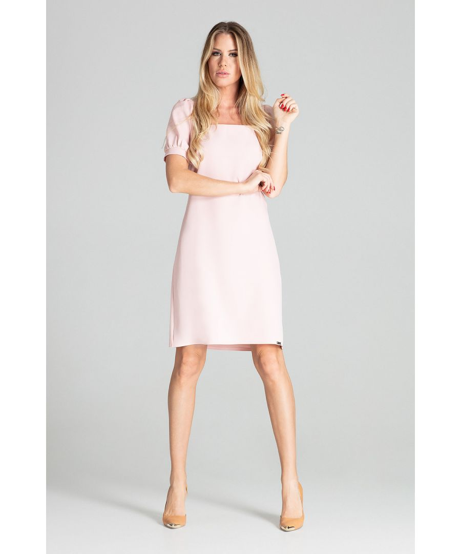 Image for Light Pink Spring Midi Dress
