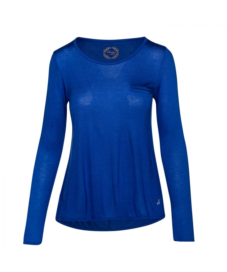Image for Micromodal Cashmere Long Sleeve Pocket Detail Top
