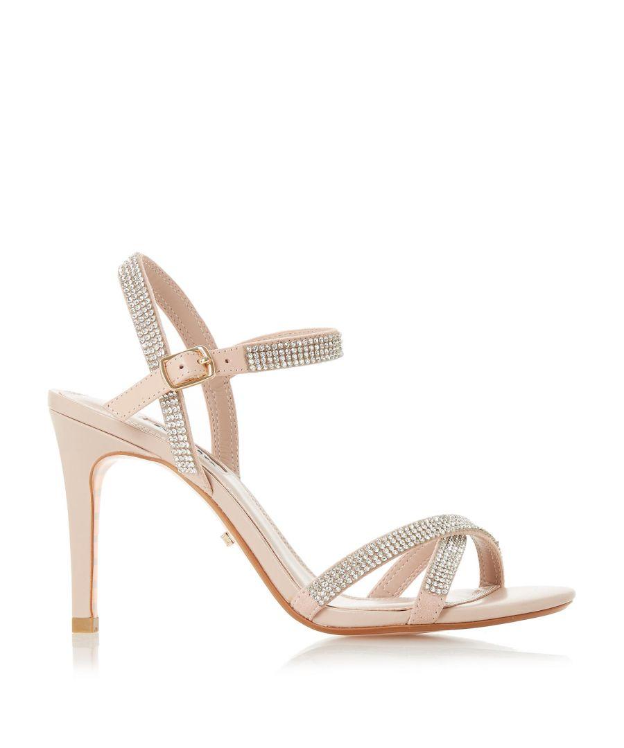 Image for Dune Ladies MADALENNA Cross Strap Mid Heel Sandals
