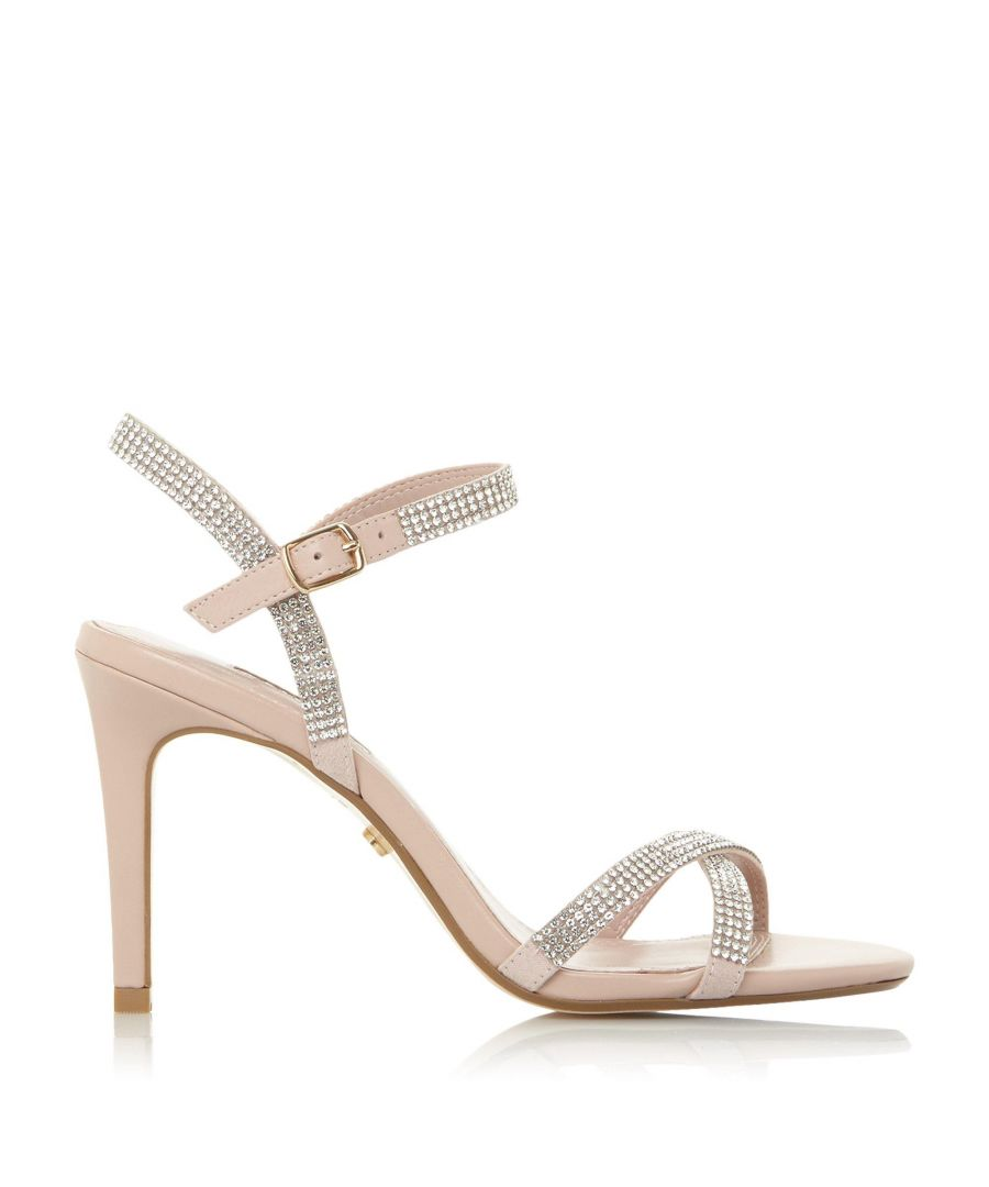 Image for Dune Ladies MADALENNA Cross Strap Mid Heel Sandal