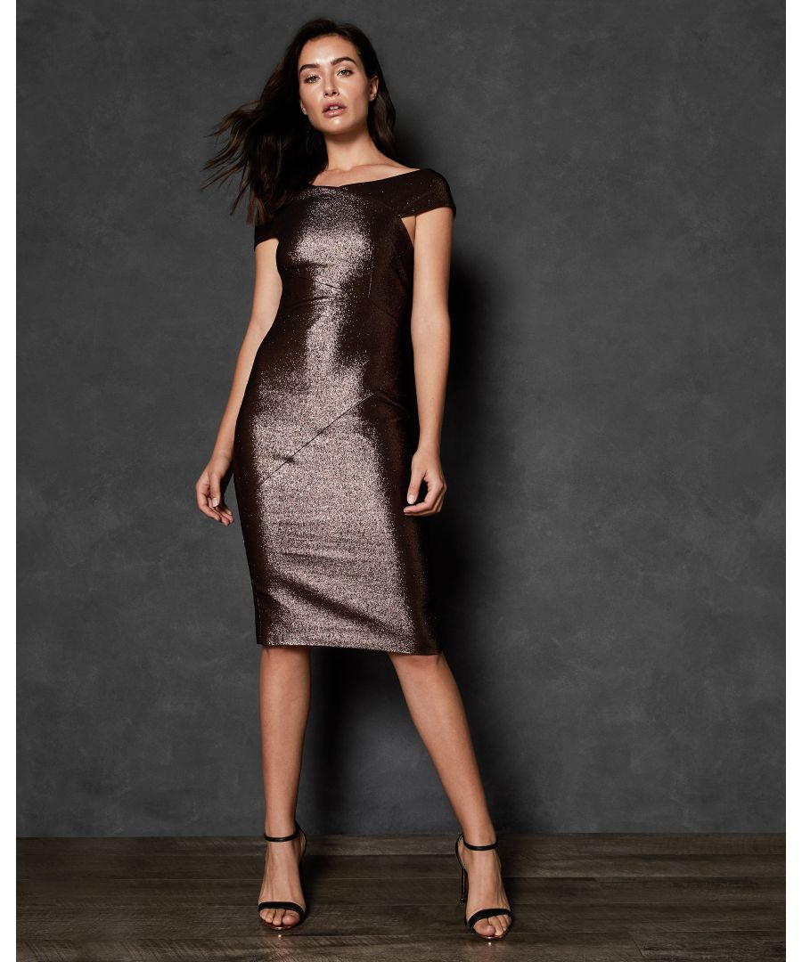 Image for Ted Baker Maggz Midi Length Bodycon Dress, Brown