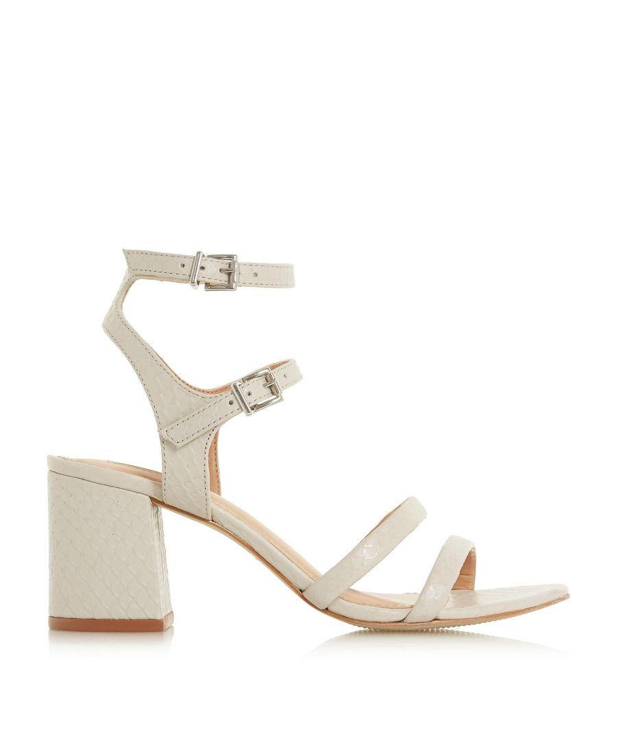 Image for Dune Ladies MAGNER Multi Strap Block Mid Heel Sandal
