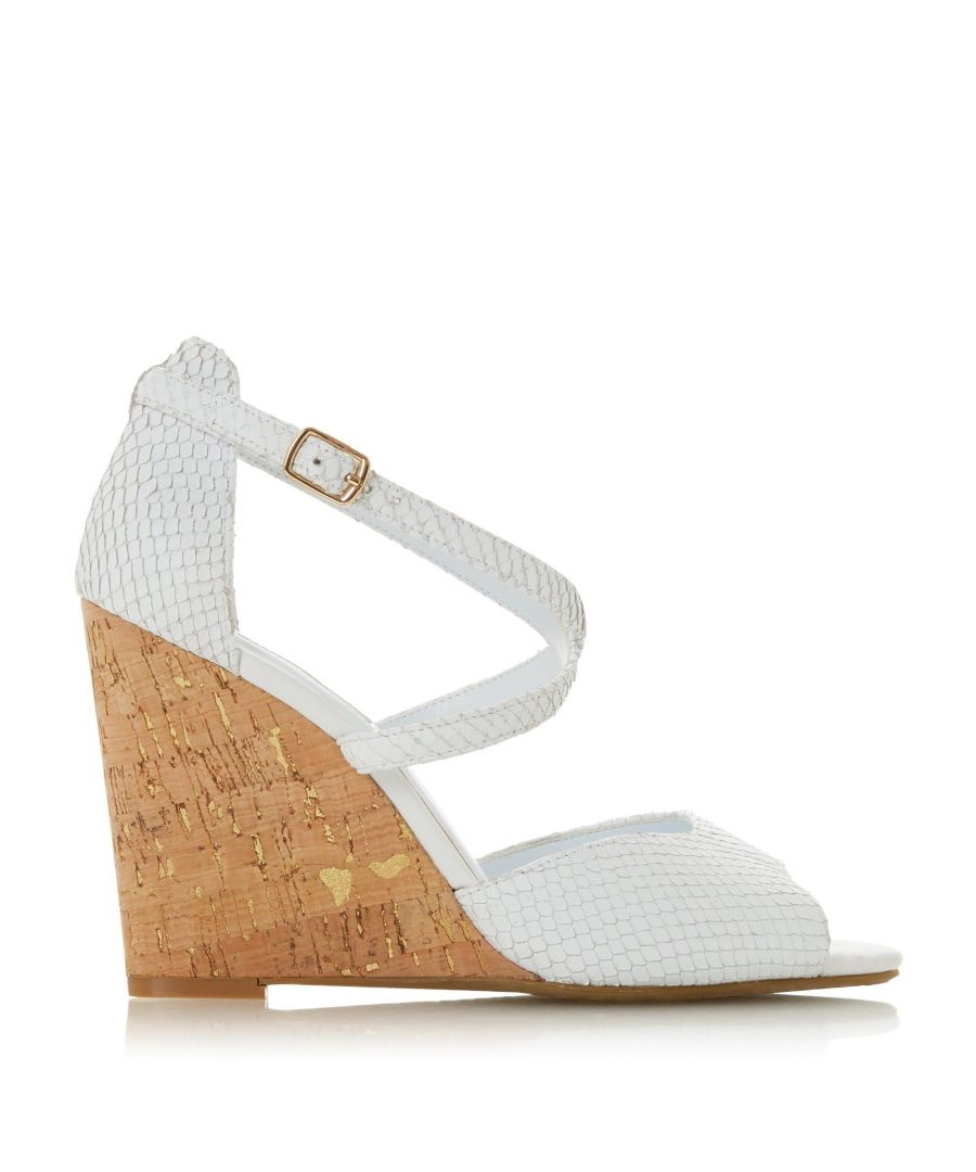 Image for Dune Ladies MAJAVE Cross Strap Wedge Heel Sandal