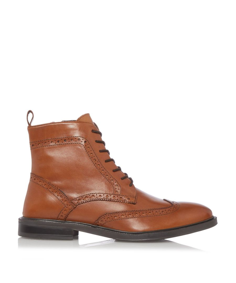 Image for Dune Mens MANDRAKE Grained Leather Chukka Boots