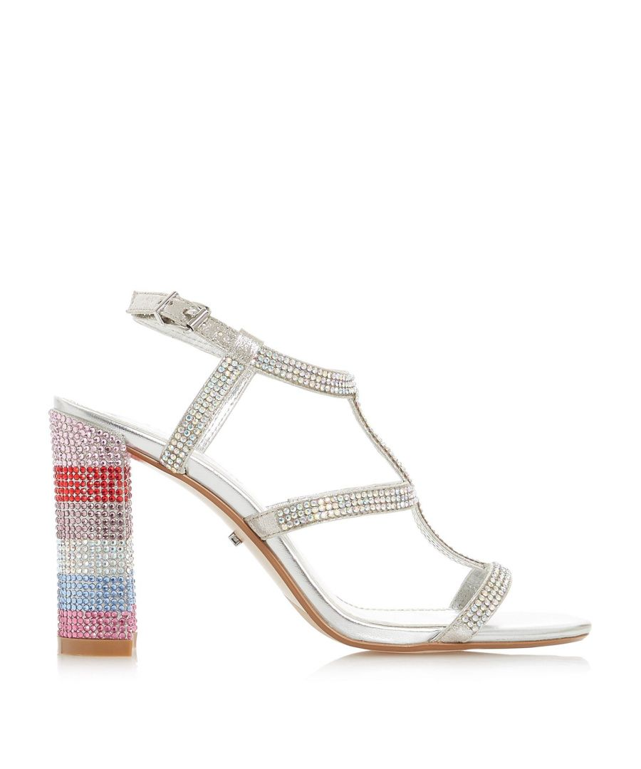 Image for Dune Ladies MARISOLE Diamante Encrusted Mid Block Heel Sandal
