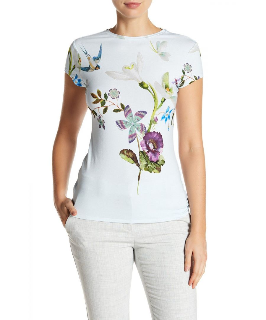 Image for Ted Baker Marliin Spring Meadows Fitted Tshirt, Pale Blue