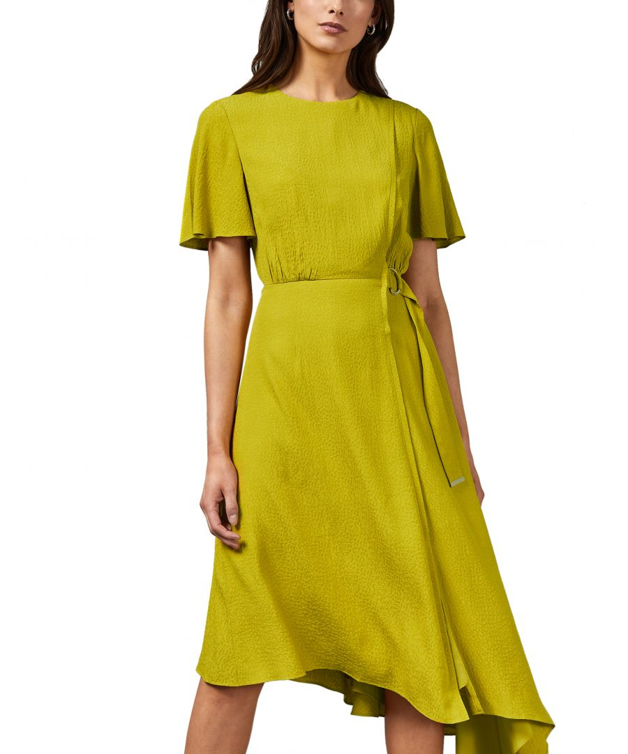 Image for Ted Baker Marniee Asymmetric D Ring Detail Dress, Light Green