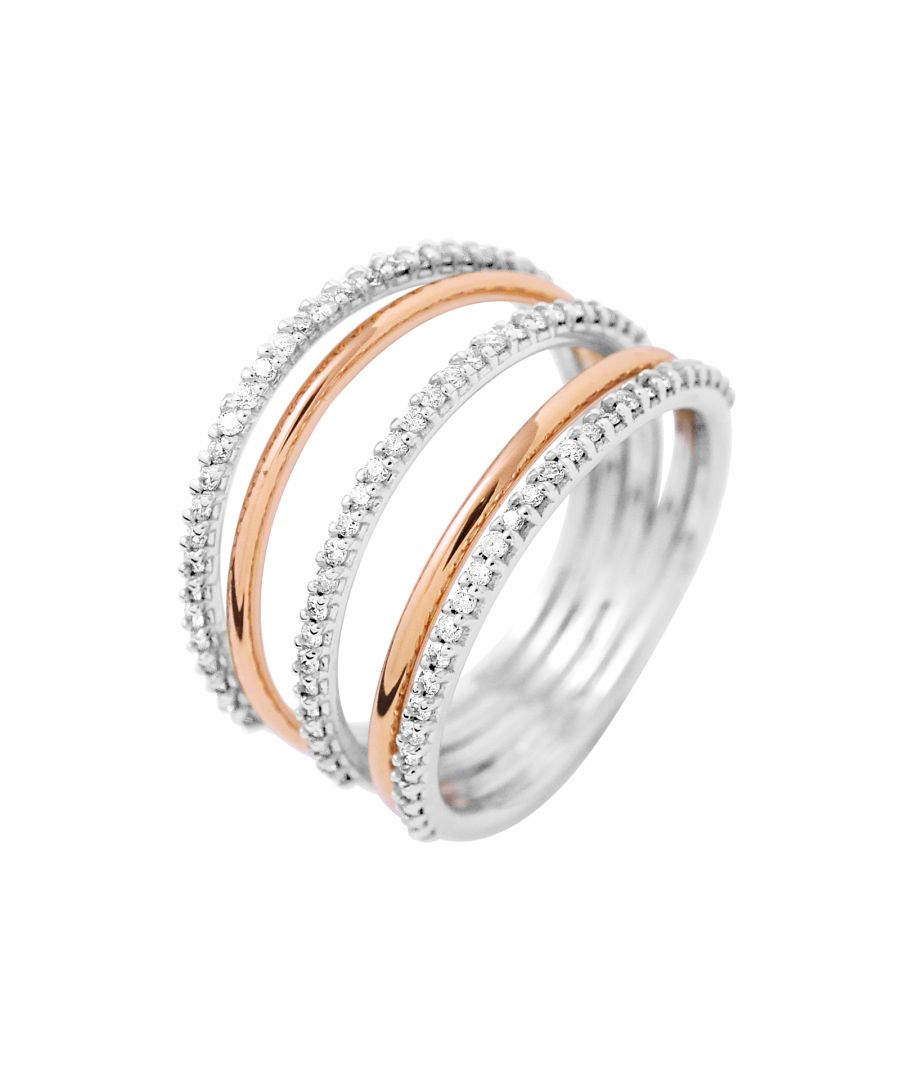 Image for DIADEMA - Ring - Prestige Jewelery - Diamonds - White Gold and Pink Gold