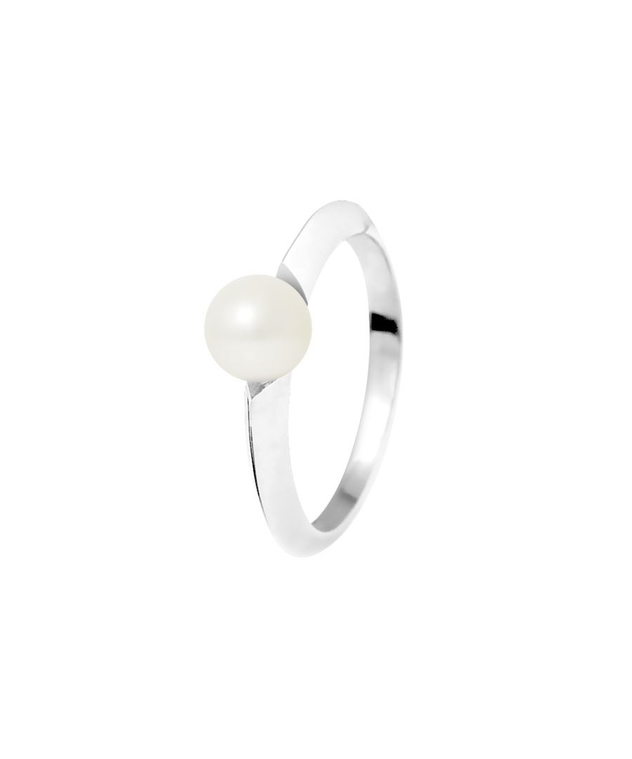 Image for DIADEMA - Ring - Diamonds and White Gold - Real Freshwater Pearls - White