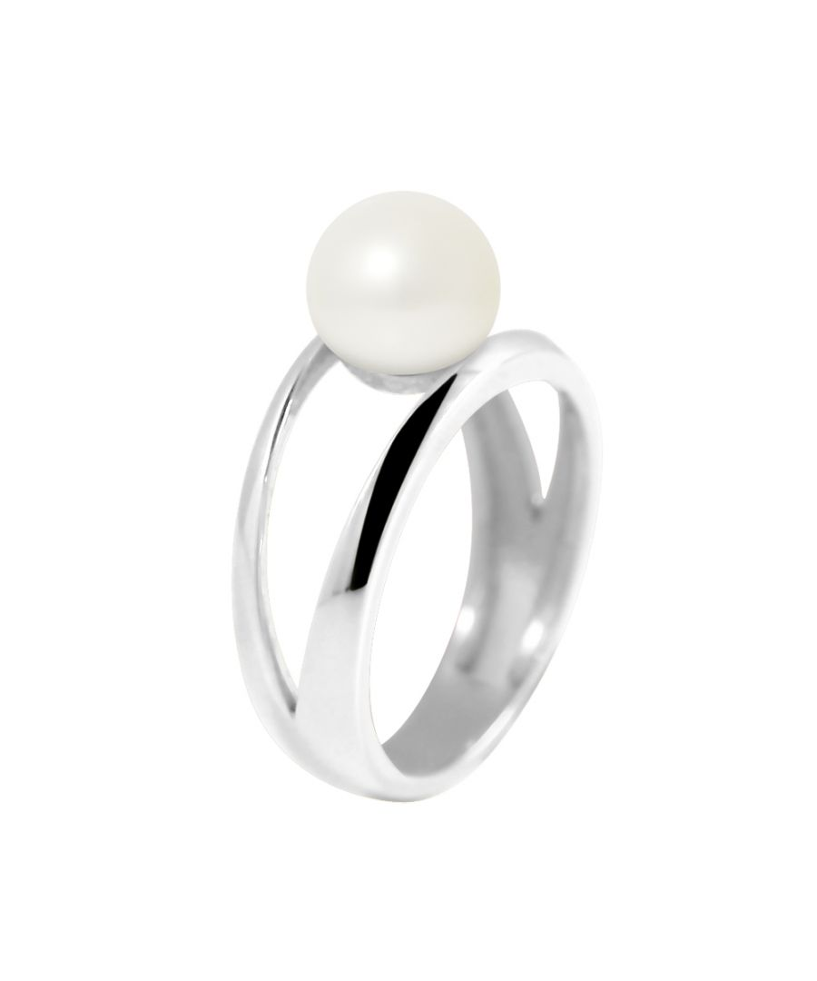 Image for DIADEMA - Ring in White Gold - Real Freshwater Pearls