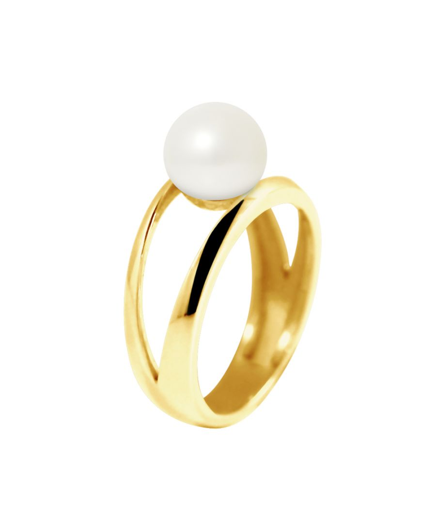 Image for DIADEMA - Ring in Yellow Gold - Real Freshwater Pearls