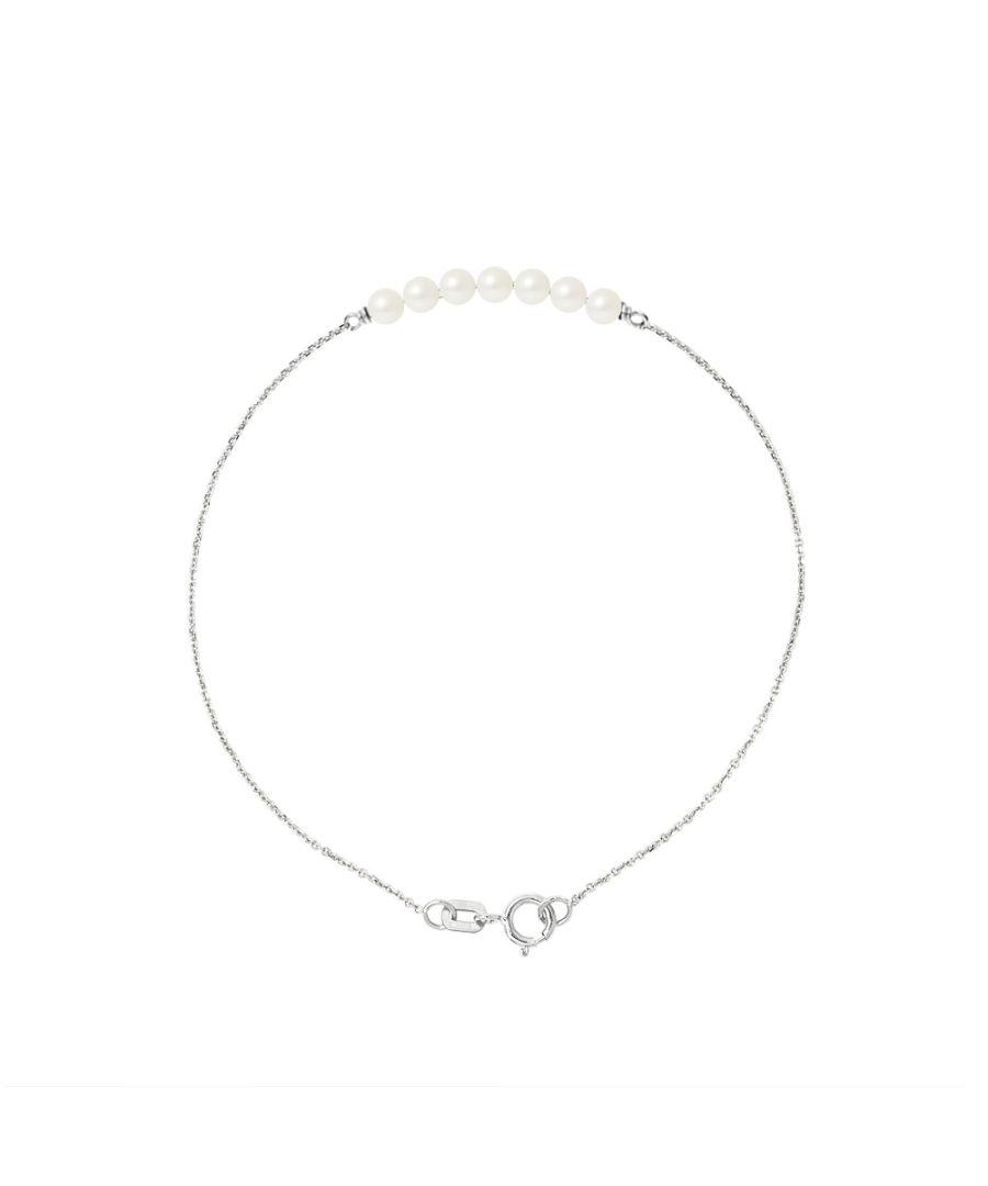 Image for DIADEMA - Bracelet - 7 Real Freshwater Pearls - Cable Chain in White Gold