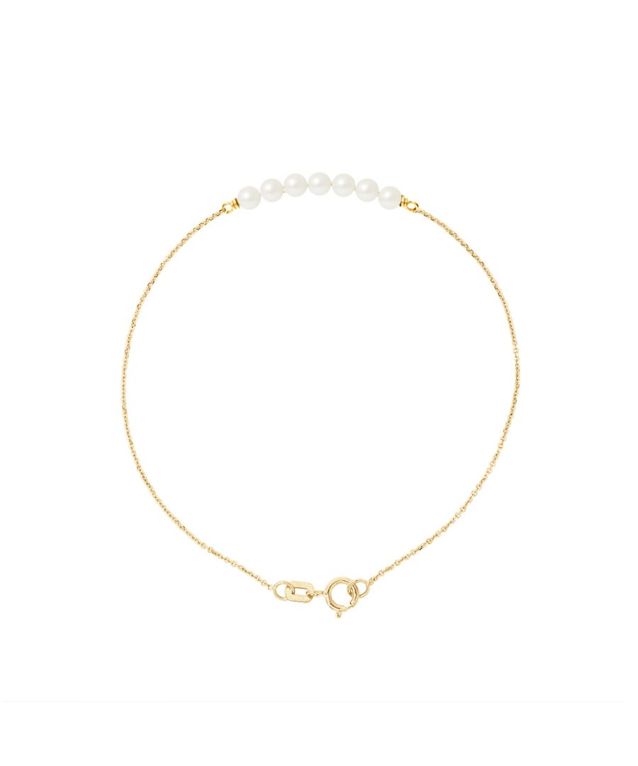 Image for DIADEMA - Bracelet - 7 Real Freshwater Pearls - Cable Chain in Yellow Gold