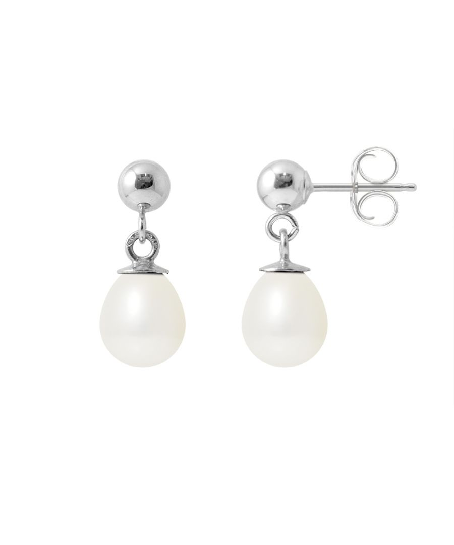 Image for DIADEMA - Earrings - White Gold and Real Freshwater Pearls