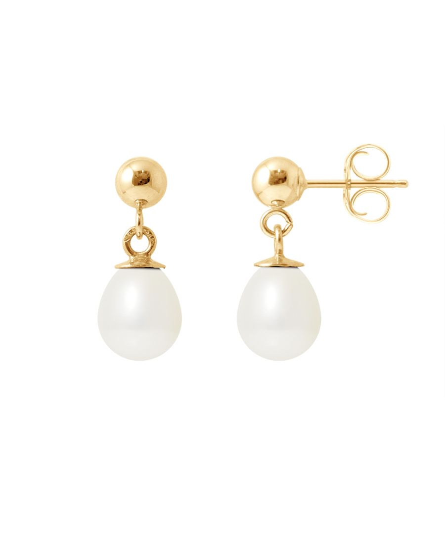 Image for DIADEMA - Earrings - Yellow Gold and Real Freshwater Pearls