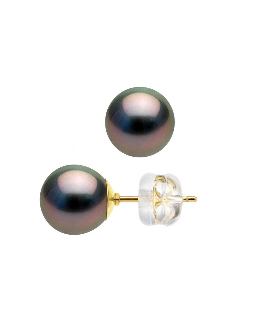 Image for DIADEMA - Earrings - Yellow Gold and Real Tahitian Pearls