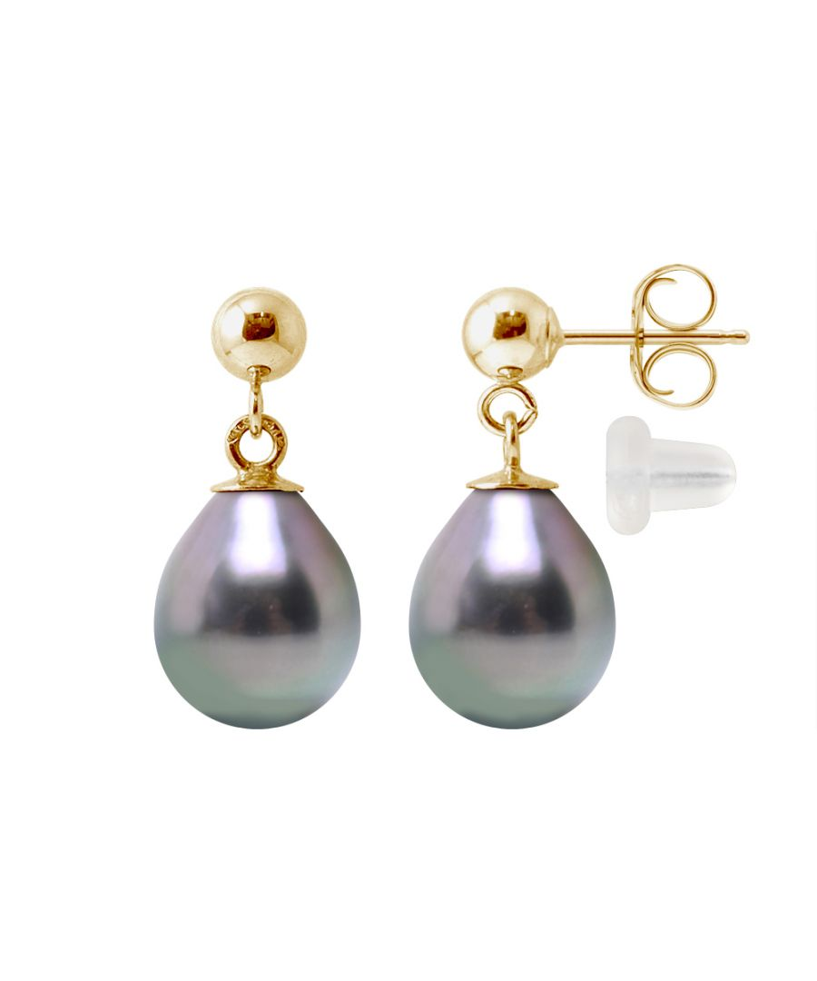 Image for DIADEMA - Earrings - Real Tahitian Pearls- Yellow Gold