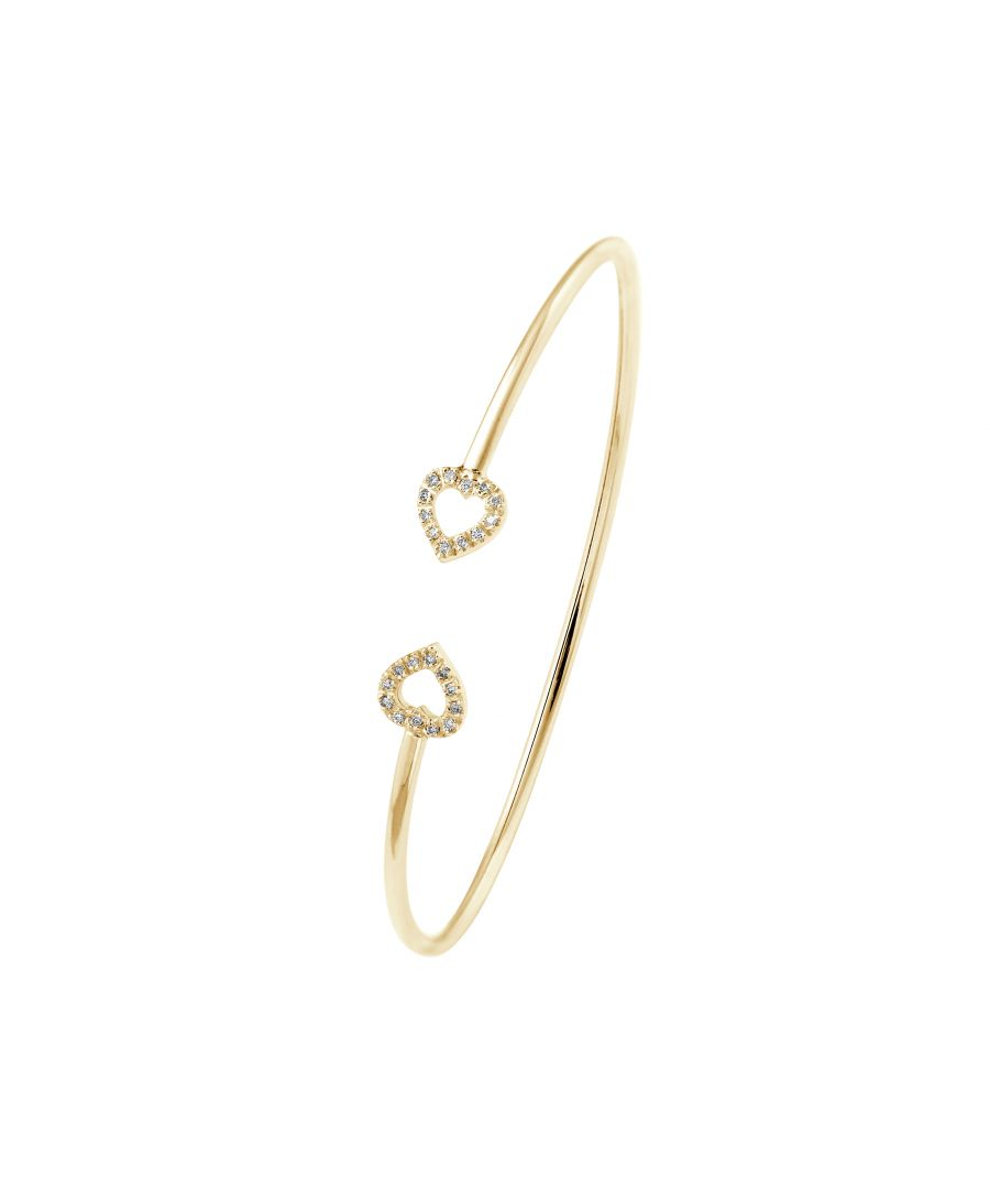 Image for DIADEMA - Bracelet - Prestige Jewelery - Heart Diamonds - Yellow Gold