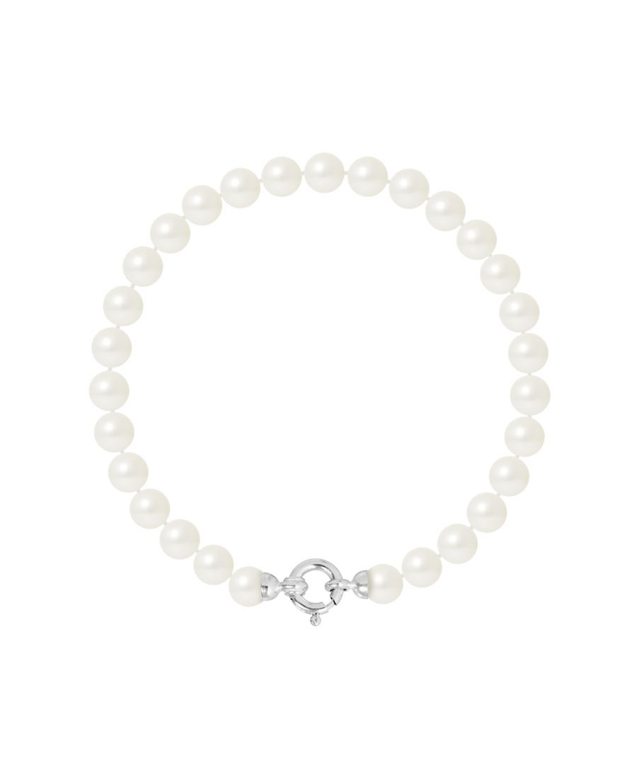 Image for DIADEMA - Bracelet - Real Freshwater Pearls - White Gold