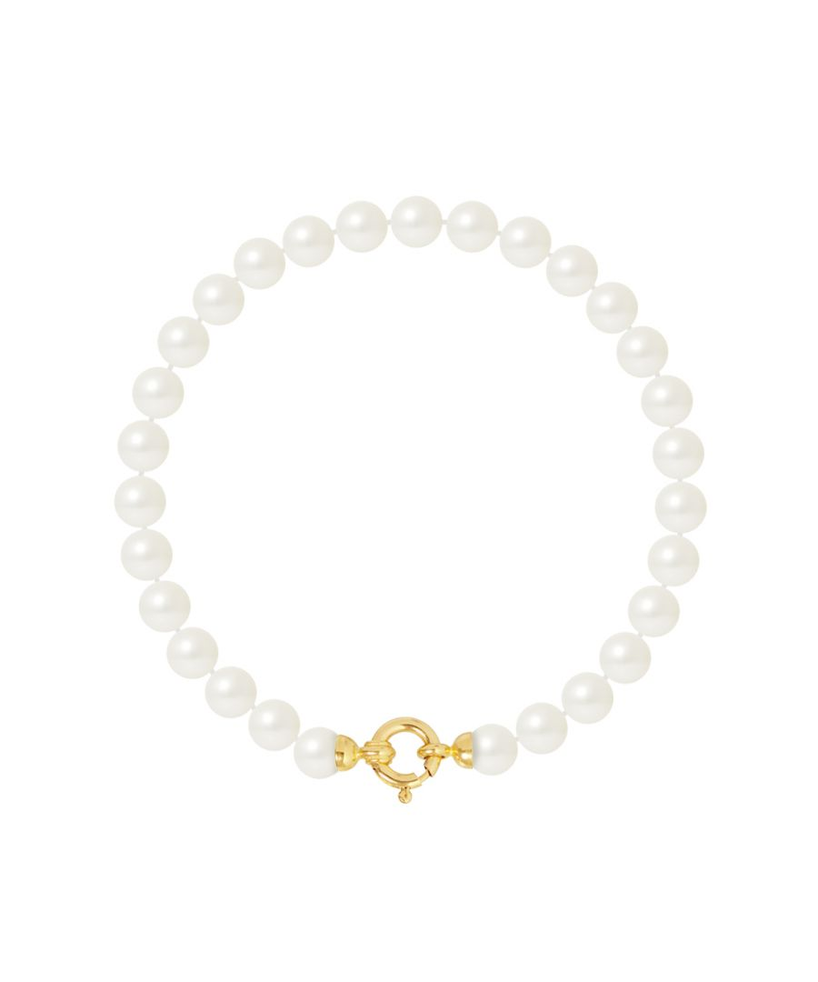 Image for DIADEMA - Bracelet - Real Freshwater Pearls - Yellow Gold