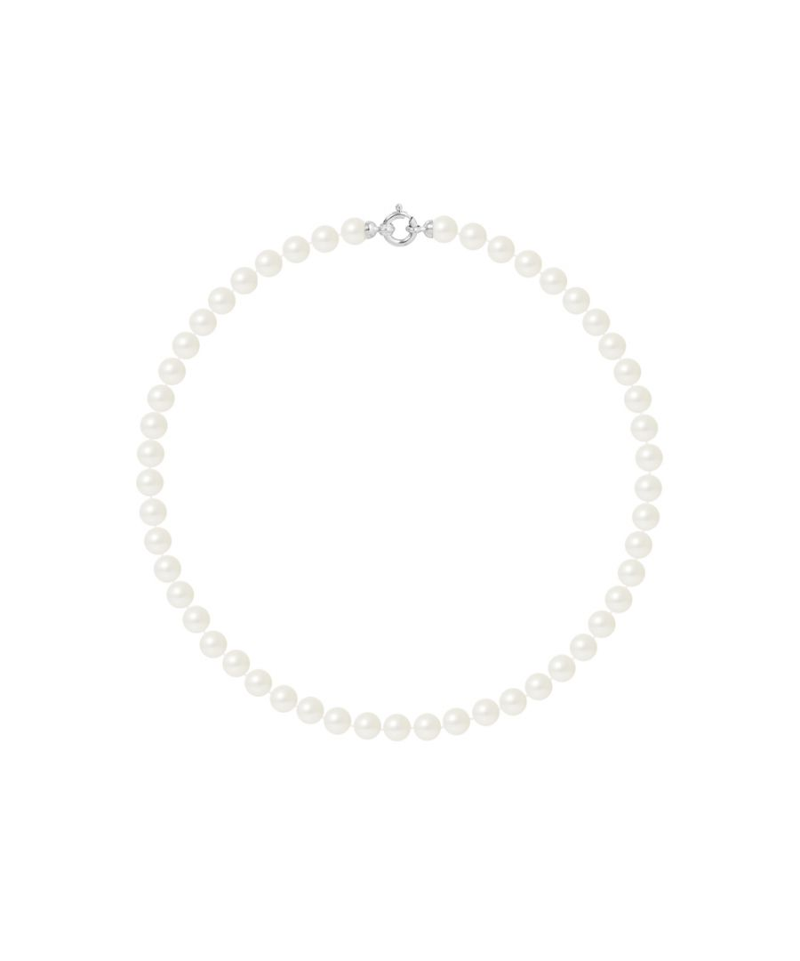 Image for DIADEMA - Necklace - Princess - Real Freshwater Pearls - White Gold