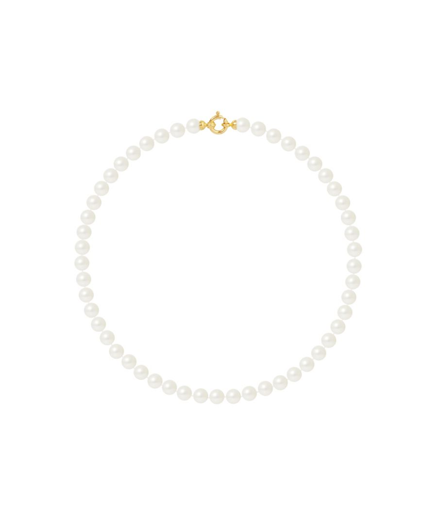Image for DIADEMA - Necklace - Princess - Real Freshwater Pearls - Yellow Gold