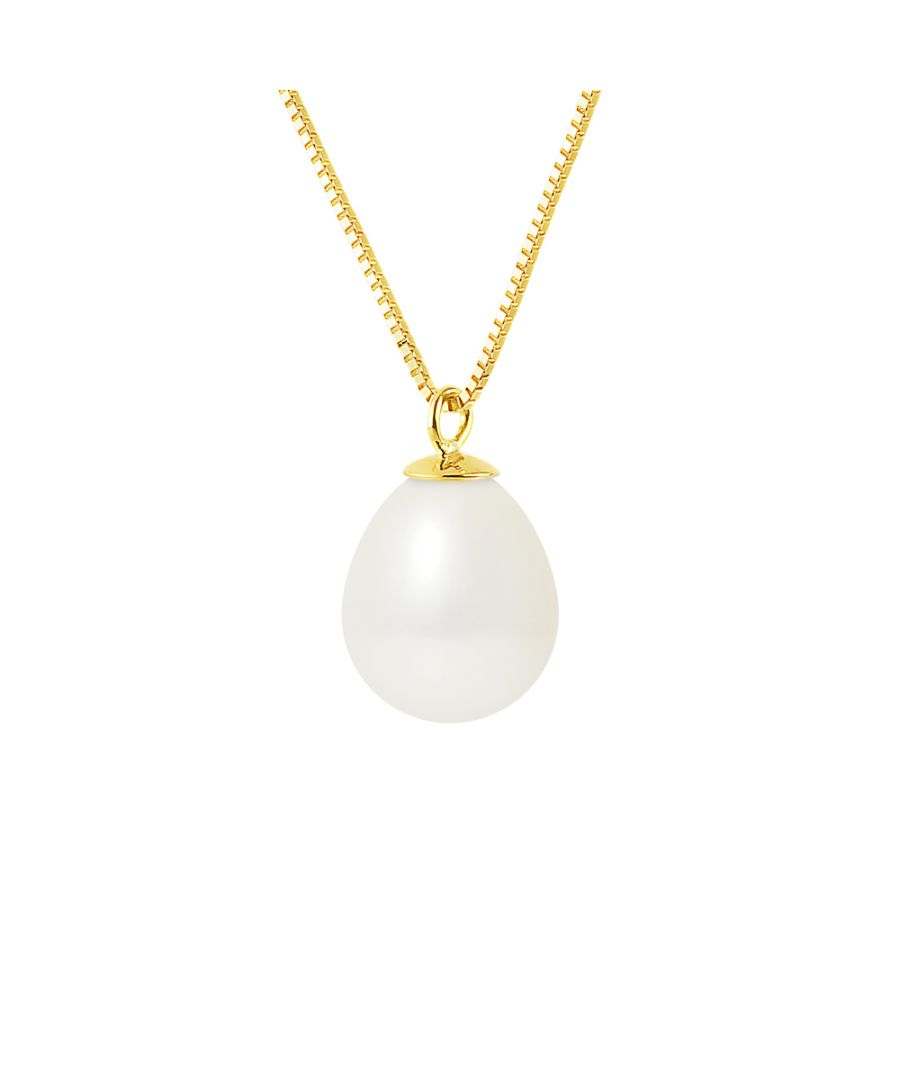 Image for DIADEMA - Necklace - Real Freshwater Pearls - White - Yellow Gold