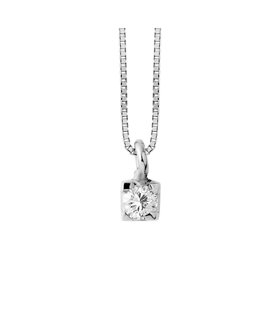 Image for DIADEMA - Necklace with Diamonds - White Gold Venetian Chain