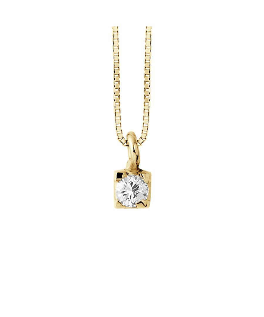Image for DIADEMA - Necklace with Diamonds - Yellow Gold Venetian Chain