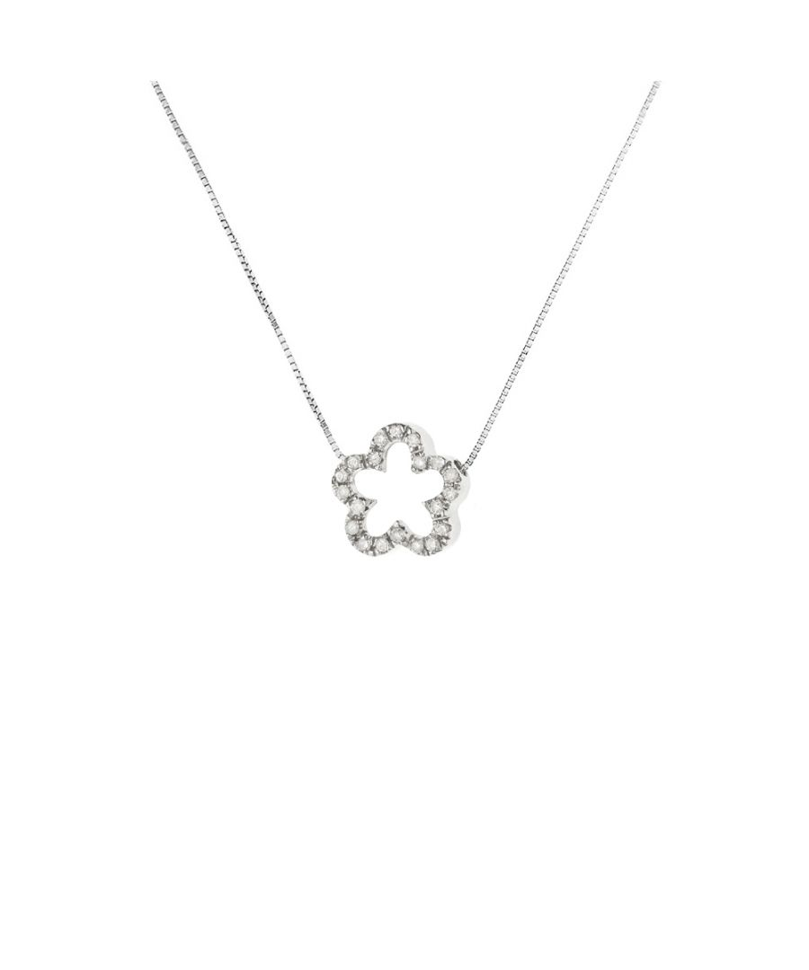 Image for DIADEMA - Necklace with Diamonds - Flower - White Gold