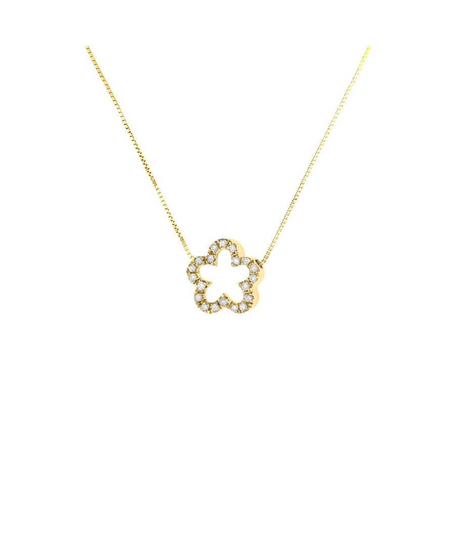 Image for DIADEMA - Necklace with Diamonds - Flower - Yellow Gold