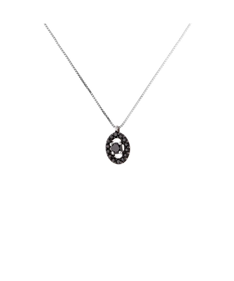 Image for DIADEMA - Necklace with Diamonds - Black - White Gold
