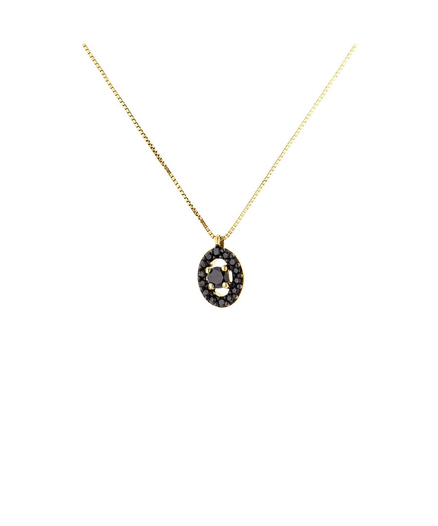 Image for DIADEMA - Necklace with Diamonds - Black - Yellow Gold
