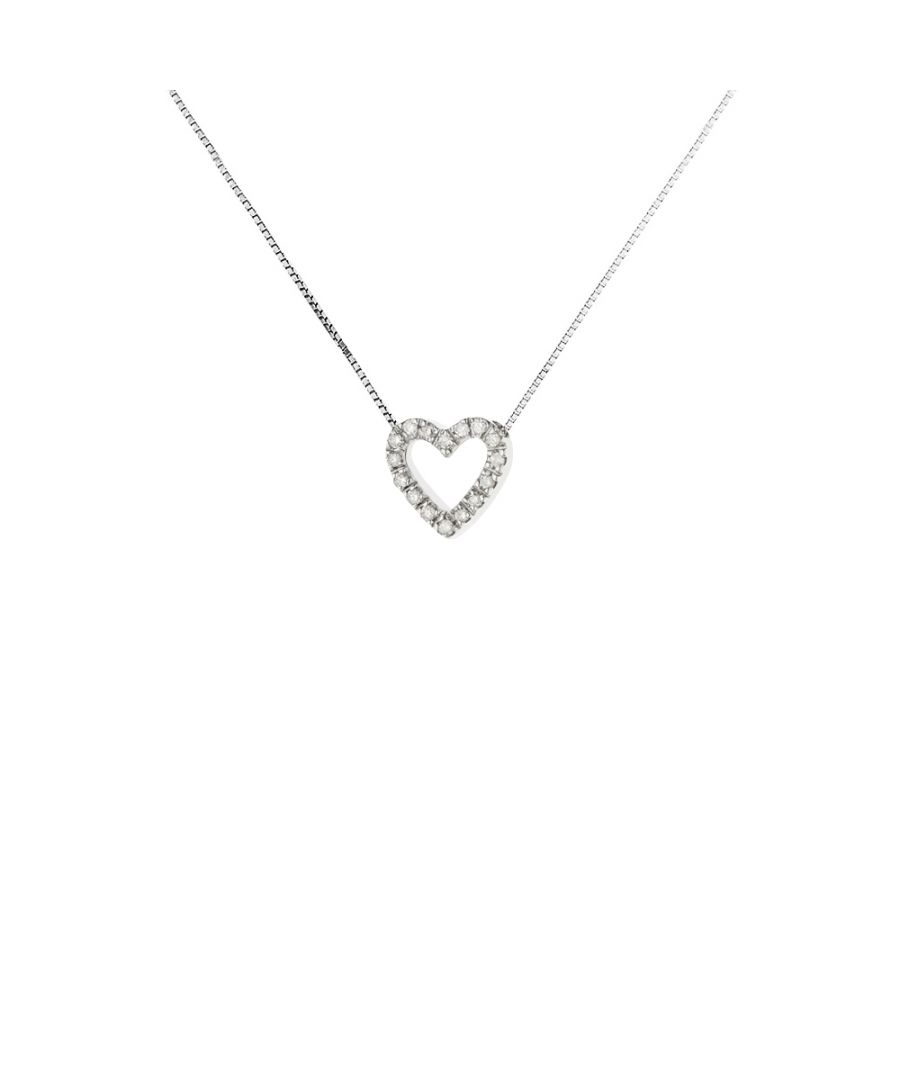 Image for DIADEMA - Necklace with Diamonds - Heart - White Gold