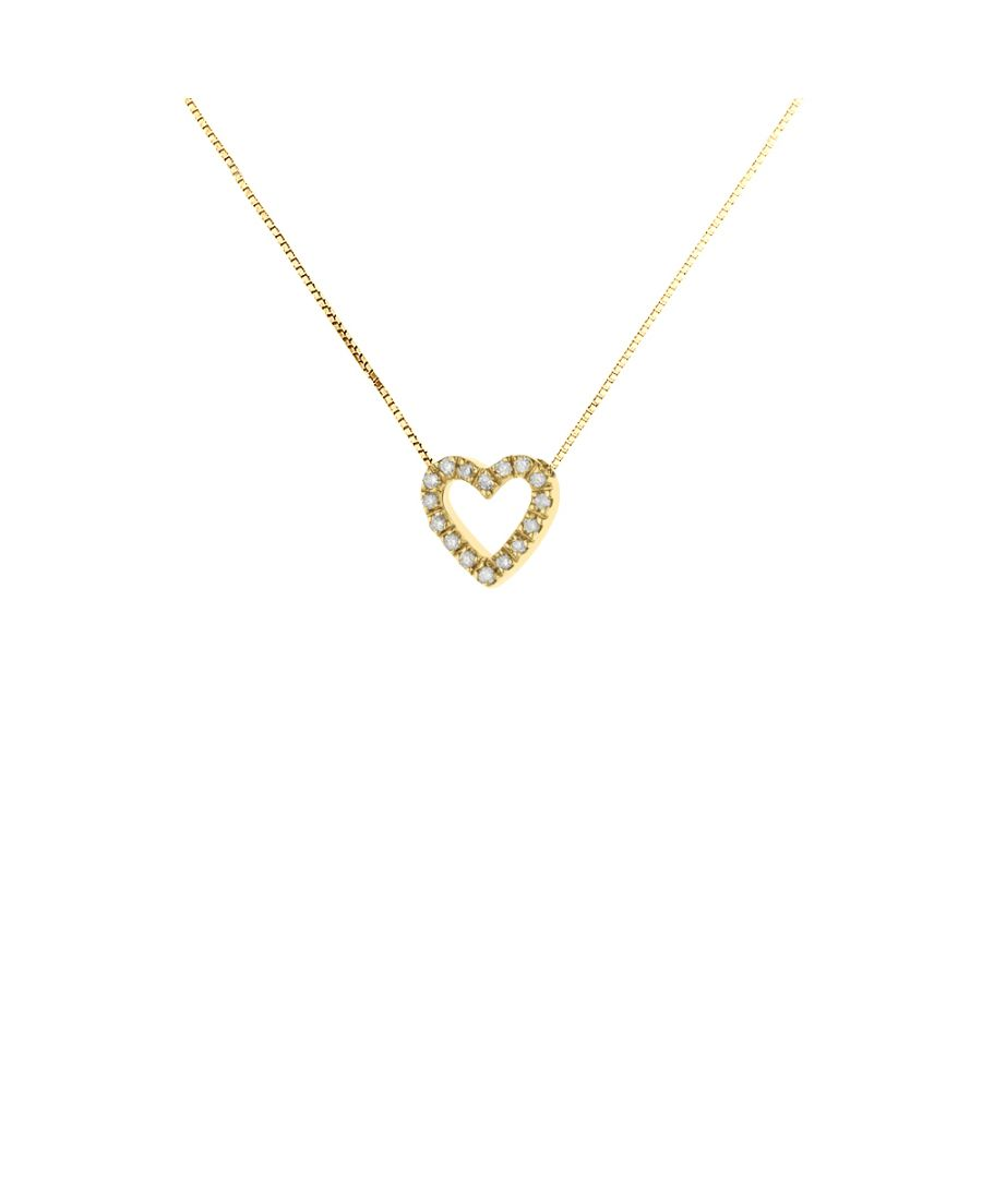 Image for DIADEMA - Necklace with Diamonds - Heart - Yellow Gold