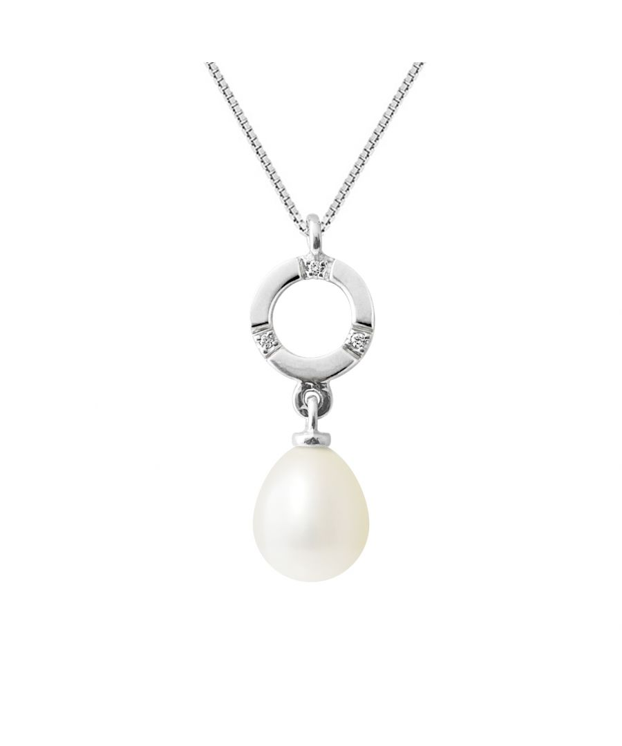 Image for DIADEMA - Pendant - White Gold and Real Freshwater Pearls - White