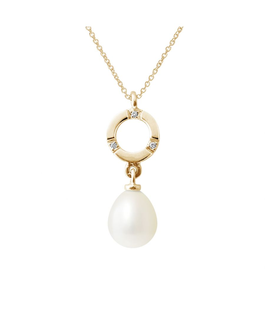 Image for DIADEMA - Pendant - Yellow Gold and Real Freshwater Pearls - White