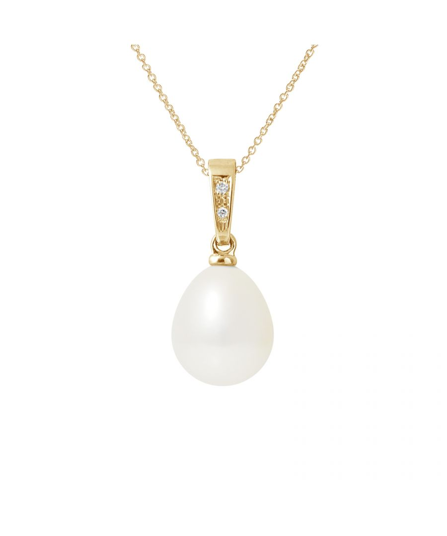 Image for DIADEMA - Pendant - Diamonds - Real Freshwater Pearls - White - Yellow Gold