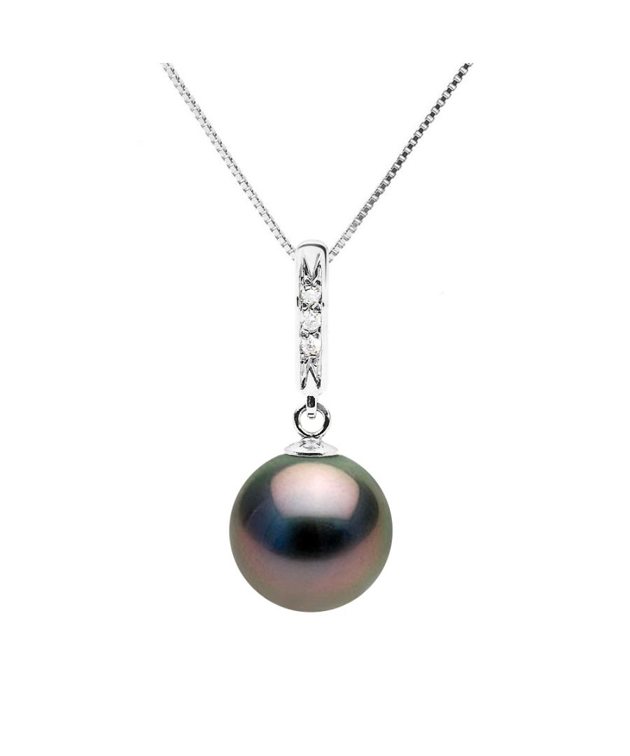 Image for DIADEMA - Necklace - Diamonds - Tahitian Pearl - White Gold