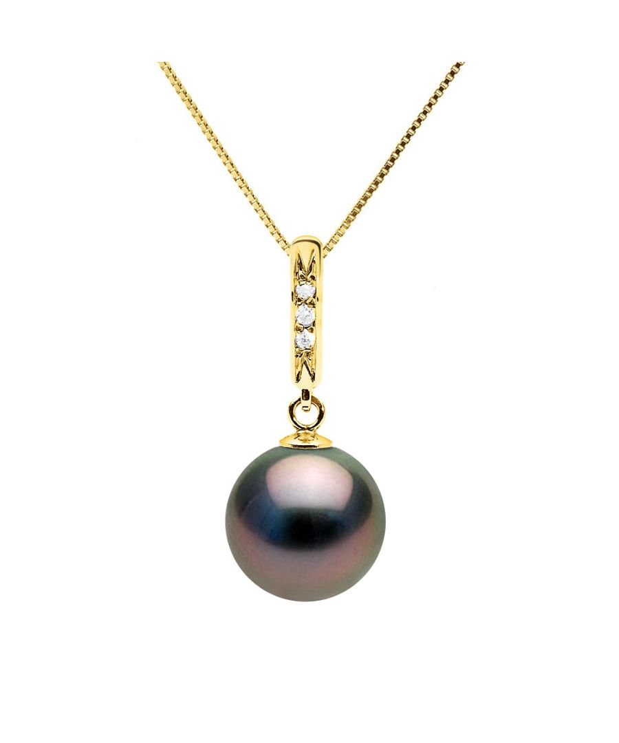Image for DIADEMA - Necklace - Diamonds - Tahitian Pearl - Yellow Gold