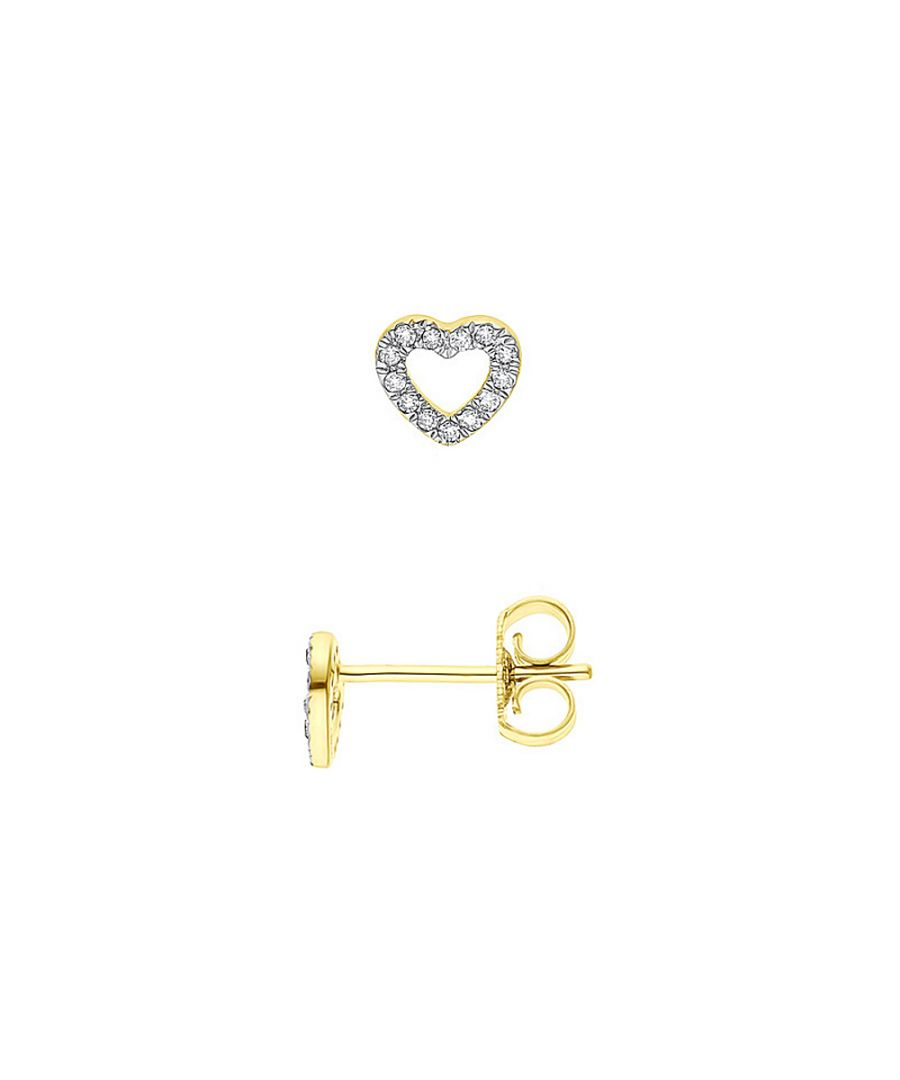 Image for DIADEMA - Earrings with Diamonds - Heart - Yellow Gold