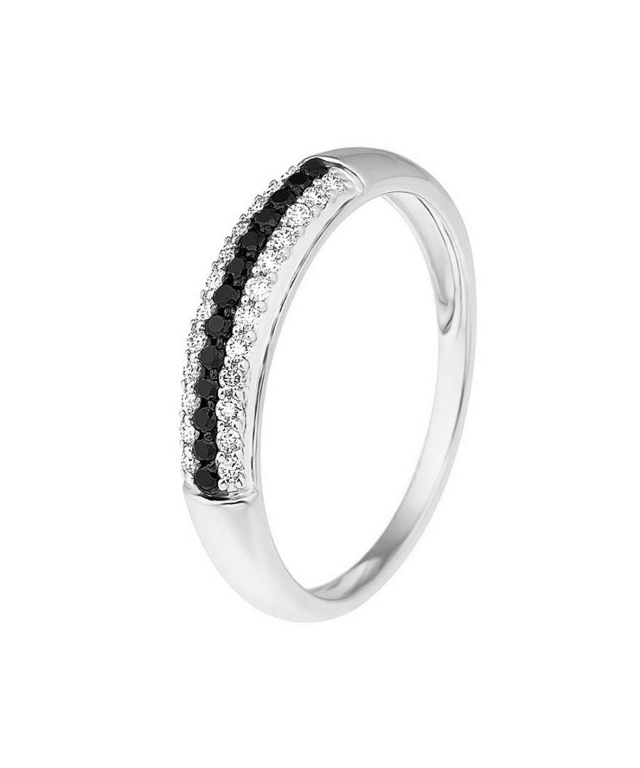 Image for DIADEMA - Ring - Prestige Diamonds White and Black - White Gold
