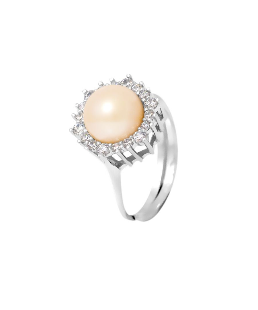 Image for DIADEMA - Massive Ring with Freshwater Pearl - Pure White Collection