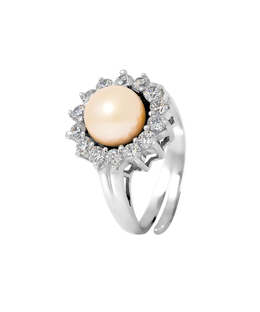 Image for DIADEMA - Prestige Ring with Freshwater Pearl - Pure White Collection