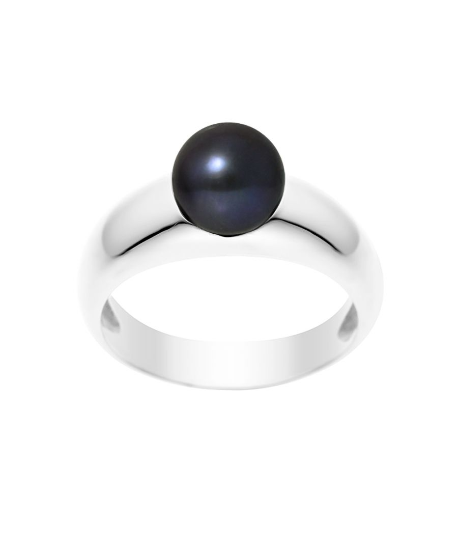 Image for DIADEMA - Ring Real Freshwater Pearls - Black Tahitian Style