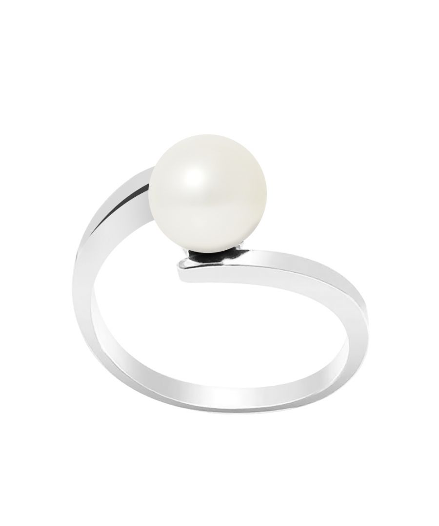Image for DIADEMA - Ring CROSS Real Freshwater Pearls - White