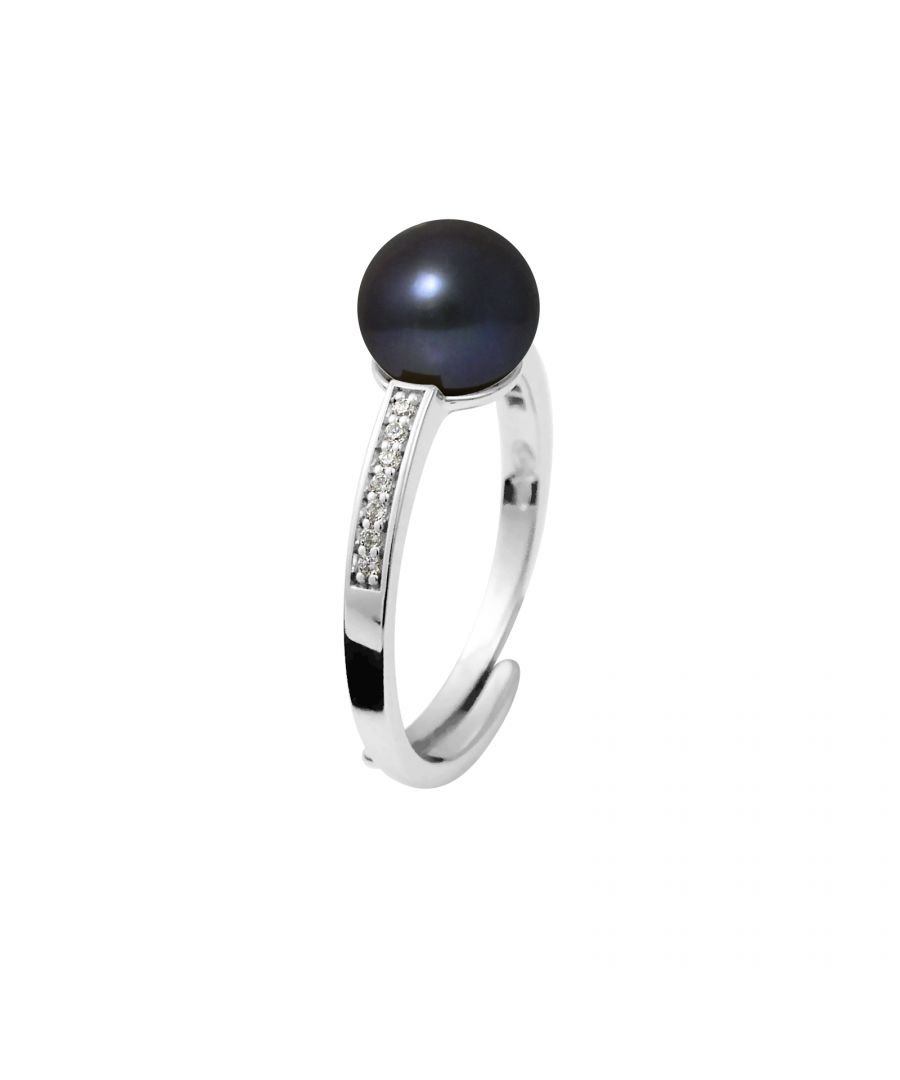 Image for DIADEMA - Ring - Real Freshwater Pearls - Black Tahitian Style