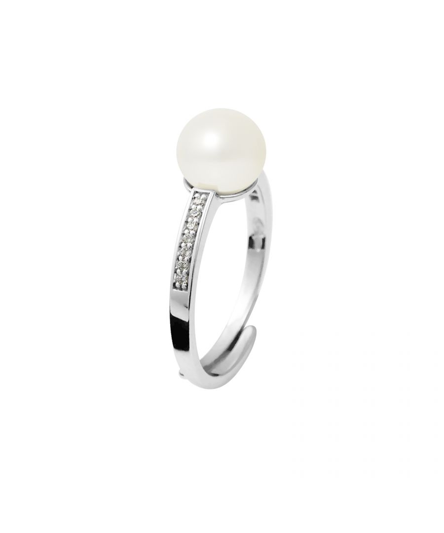 Image for DIADEMA - Ring - Real Freshwater Pearls - White