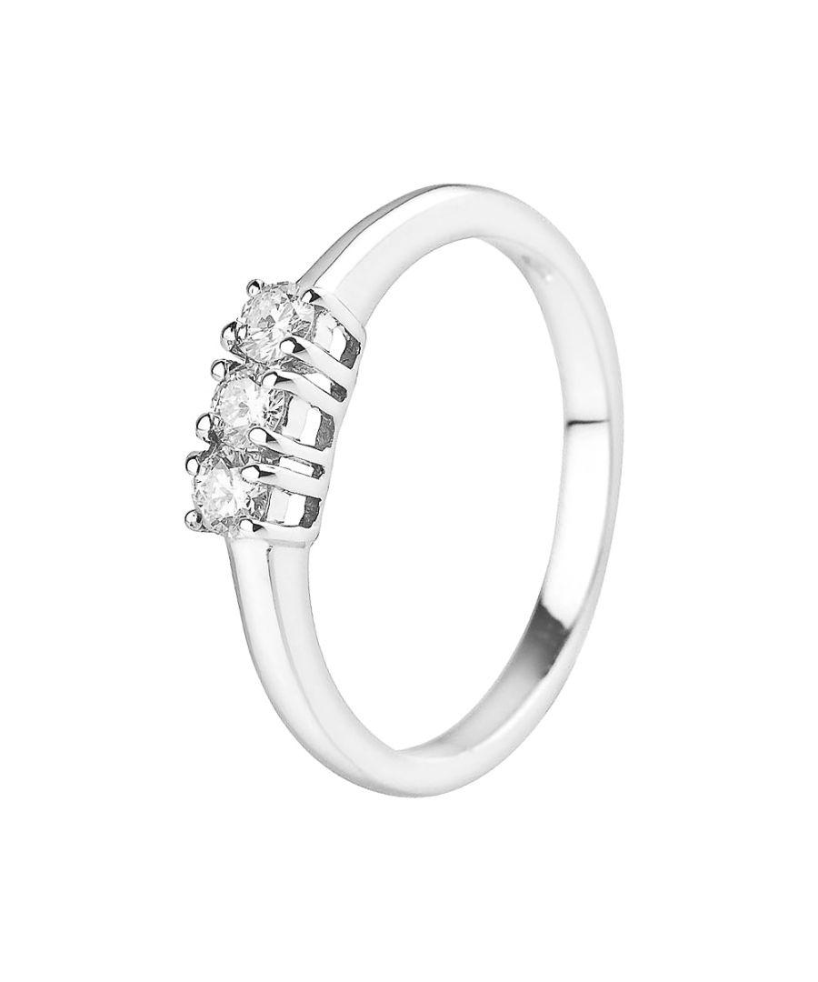 Image for DIADEMA - Ring - Trilogy Diamond - White Gold