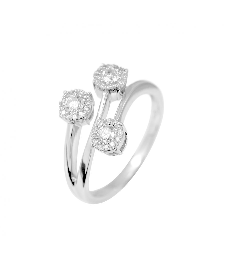 Image for DIADEMA - Ring - Trilogy Diamonds - White Gold